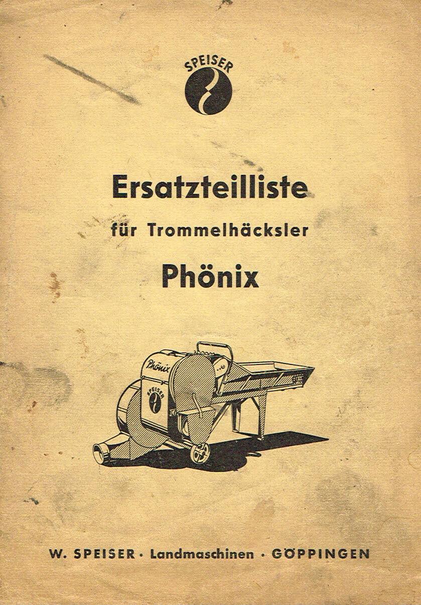 Speiser Trommelhäcksler Phönix, orig. ETL 50/60er Jahre