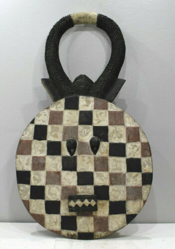 African Goli Horned Mask Akan Tribe Ivory Coast