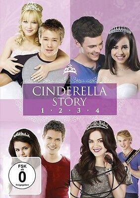 Cinderella Story 1-4 Komplettbox 4 DVDs Teil 1+2+3+4 inkl.Wenn der Schuh passt