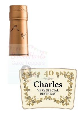 Personalized Hennessy Bottle (HENNESSY BOTTLE LABEL PERSONALISED EDIBLE PRINTED ICING CAKE)