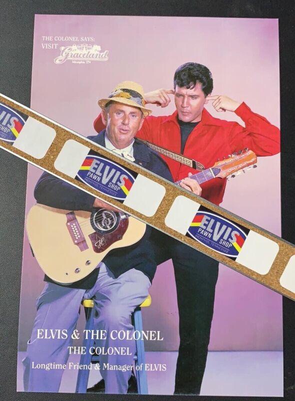 Elvis & Colonel Tom Parker Postcard / Poem / Direct From Memphis / Graceland