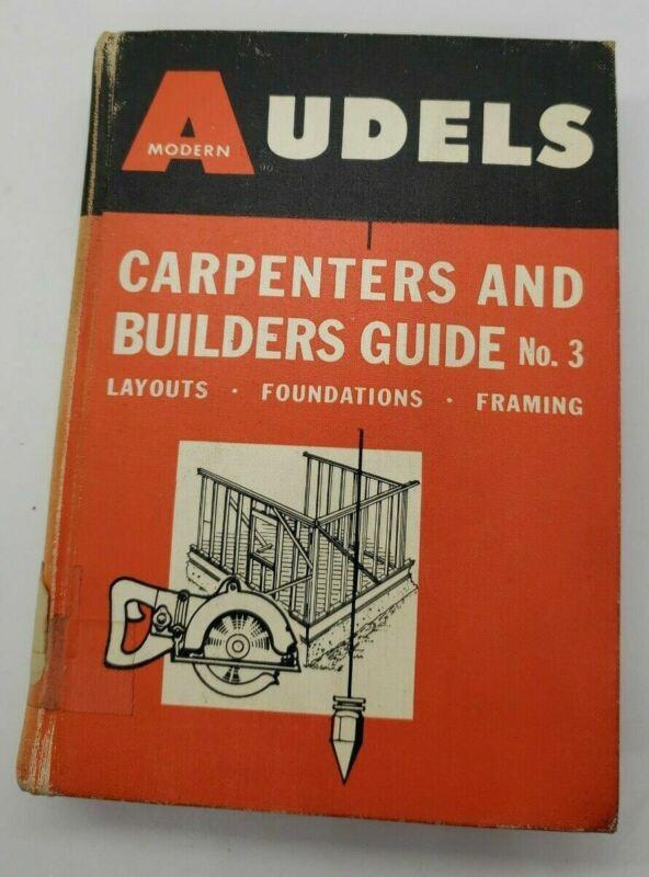 Vintage 1966 Audels: Carpenters and Builders Guide No. 3
