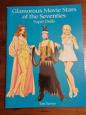 Glamorous Movie Stars Of The 1970's Uncut Paper Dolls Doll Book Tom Tierney 2001