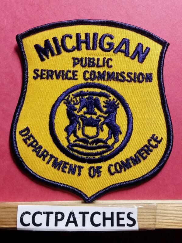 MICHIGAN PUBLIC SERVICE COMMISSION DEPT OF COMMERCE (POLICE) SHOULDER PATCH MI