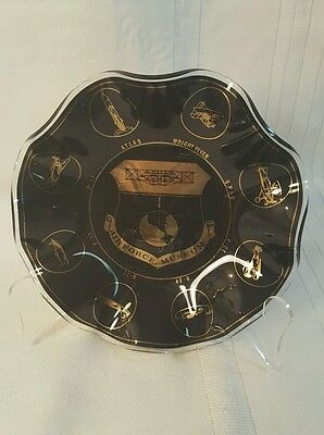 Air Force Museum Smoky Glass Dish Souvenir-Shows Flight Through The Years! 725