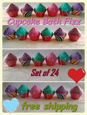 Cupcake Bath Bombs Variety Pack Kids Gift Set Fizzy Fizzies Scented Cupcake Bath Bombs