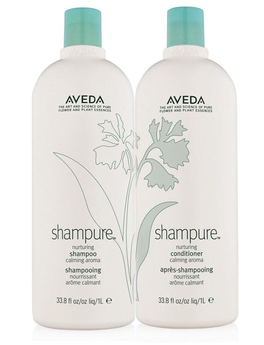 "Aveda shampure shampoo and conditioner ""New Bottle"" 33.8 oz"