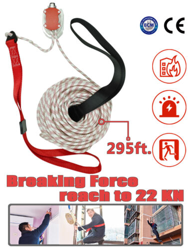 Rescue  Fire Escape Rope Device Building Emergency Evacuation Mode 29 Story