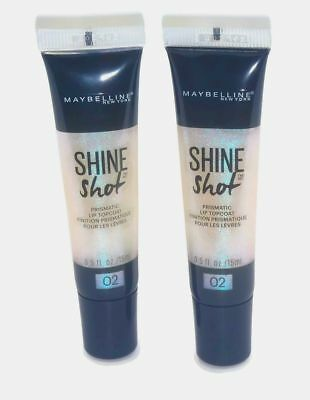- Maybelline New York Lip Studio Shine Shot Shimmery Top Coat 0.5oz x 2 Pack