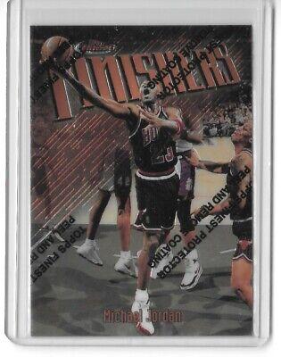 1997-98 Topps Finest Finishers #39 Michael Jordan w/ Coating 90s Base Chicago SP