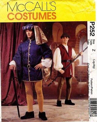 Mccall's Herren Renaissance Kostüm Muster P252/2248 Größe L-XL (Renaissance Herren Kostüm Muster)