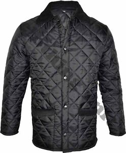 JQ1 MENS HUNTING QUILTED PADDED JACKET BLACK COAT S - XXL