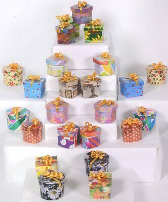 1 Case (48) Multi-Shape Wrapped with Bow Gift Jewelry RING Boxes Jeweler Supply  - Jeweled Gift Boxes