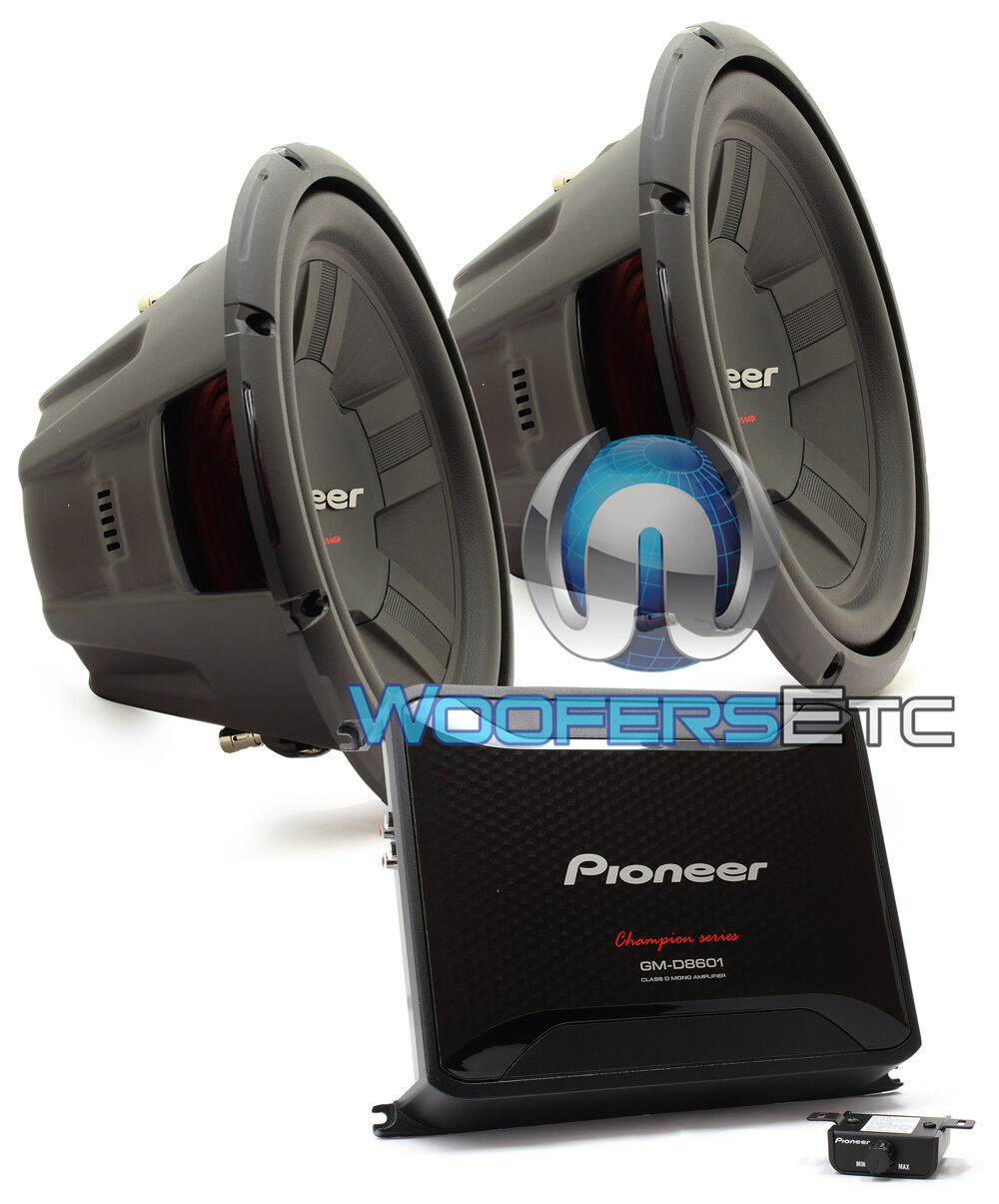 "PIONEER  TS-A300D4 12"" SUBWOOFERS SPEAKERS + GM-D8601"