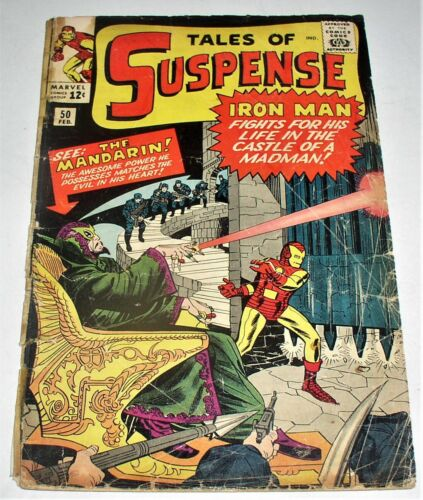 TALES OF SUSPENSE #50  SILVER AGE 1964  1ST APP OF THE MANDARIN !  Free Shipping