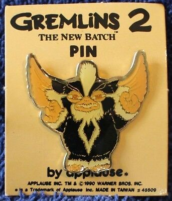Vintage Gizmo Mogwai Gremlin Movie Pin 1990 Warner Bros Gremlins 2 New Old Stock