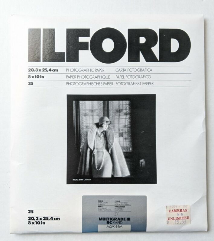 Ilford Multigrade III RC Rapid MGR.44M Photographic Pearl Paper 8x10 25 sheets