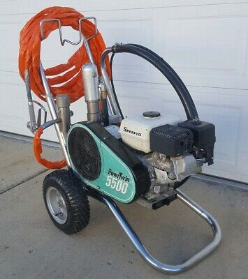 Titan Speeflo Powrtwin 5500 Convertible Hydraulic Airless Paint Sprayer Gas