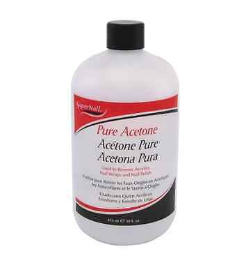 Super Nail Pure Acetone Polish Remover, 16 oz (Pack of 2)
