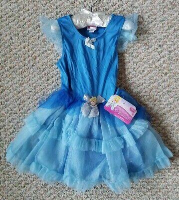 Disney Princess Cinderella Tutu Dress NEW with Tags Girls Blue Size S 4-6