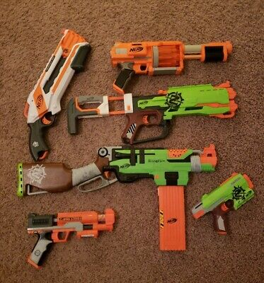 Nerf Zombie Strike N-Strike And Others Lot of 6