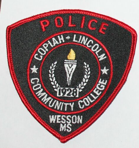 COPIAH-LINCOLN COMMUNITY COLLEGE POLICE Wesson Mississippi MS PD patch