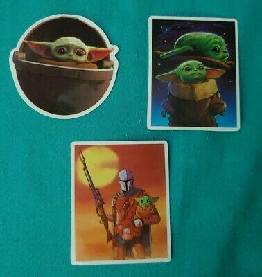 Disney Stickers - Lot of 3 - The Child & Mandalorian