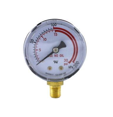 Low Pressure Gauge For Propane Regulator 0-30 Psi 2 Inches - 18 Npt Thread