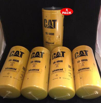 5 Pack New Cat 1r-1808 Filter As Caterpillar Oem 1r1808