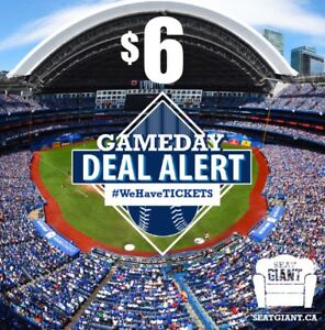 BLUE JAYS TICKETS TONIGHT FROM JUST $6 CAD! LOWERS FROM $10!!!