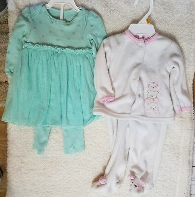 Lot of Girls clothes 0-3-6 month Kidgets fleece carters tulle dress w/ leggings