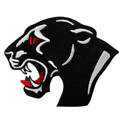 Panther Kopf - Aufnäher Aufbügler Iron On Patch Applikation #9481