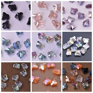 10pcs-Charms-Faceted-Glass-Crystal-Butterfly-Spacer-Findings-Loose-Beads-10mm