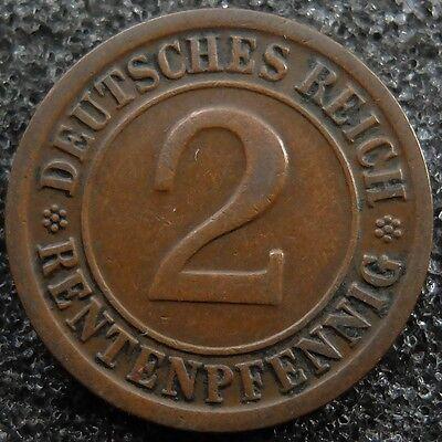 2 Rentenpfennig 1923 G --  GUTER ZUSTAND, SELTEN    #2490
