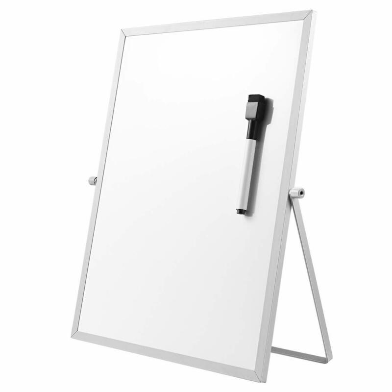 STOBOK Magnetic Dry Erase Board with Stand for Desktop, Doub