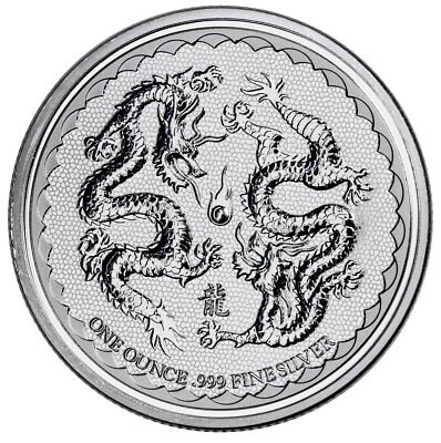 2018 Niue 1 oz Silver Double Dragon - Pearl of Wisdom $2 Coin GEM BU SKU53653