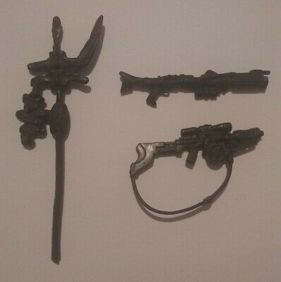 Vintage 1983 Star Wars Kenner Lfl Logray Ewok Weapon accessory Bundle Lot