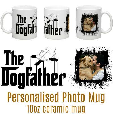 Dog Father Personalised Ceramic Photo Mug - Fathers Day, Birthday Christmas Gift