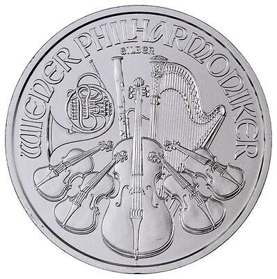2017 Austria 1.5 Euro 1 Troy oz. .999 Fine Silver Philharmonic Coin SKU44895
