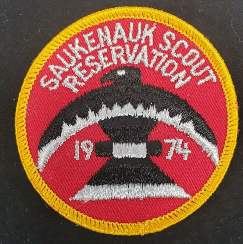 BSA Saukenauk Scout Reservation Camp Patch / 1974/ New NOS / Vintage Boy Scouts