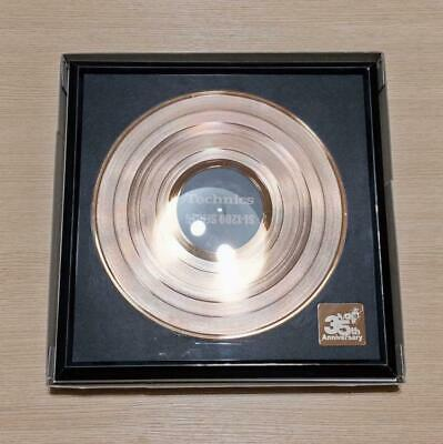 Technics Gold Disc SL-1200 Series 35th Anniversary with Plate, Box