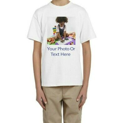 PROMO Custom Personalized T-Shirts Photos or text on T-shirt CLEARANCE FOR KIDS