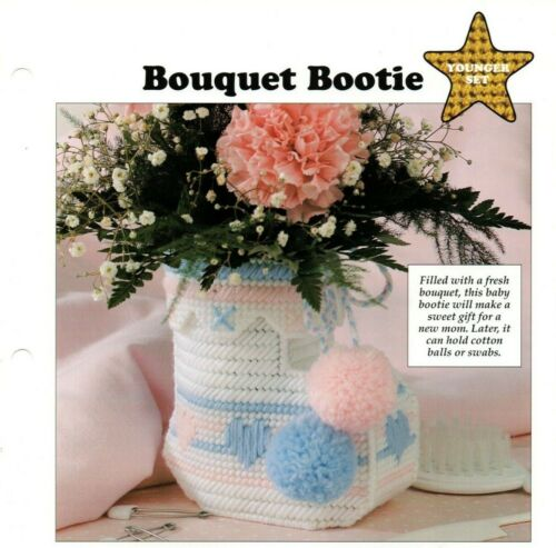 Plastic Canvas Patterns - Bouquet Bootie - Younger Set - All-Stars