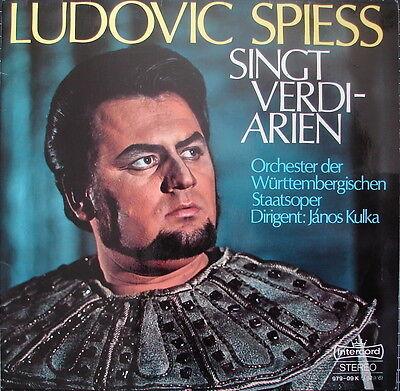 Ludovic SPIESS (- KULKA) singt VERDI-Arien - near mint