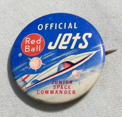 Vintage Red Ball Jets plane  pinback pin local advertising badge   button club