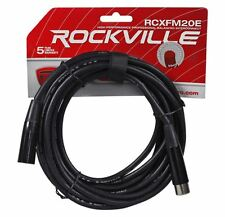 Rockville RCXFM20E-B 20 Foot Female to Male XLR Mic Cable Black 100% Copper