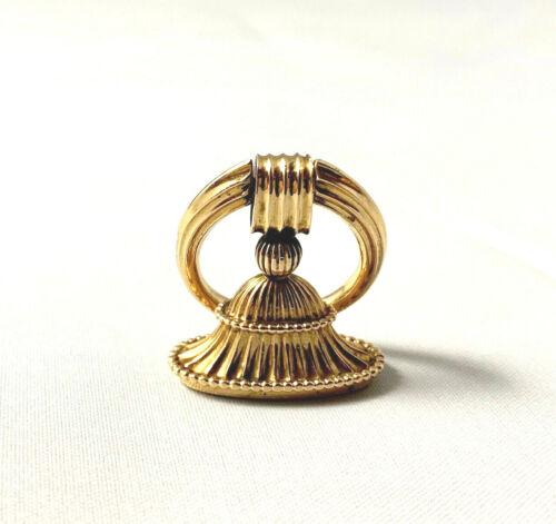 Antique Carter Gough & Co 14K Rose Gold Watch Fob Charm Pendant Seal