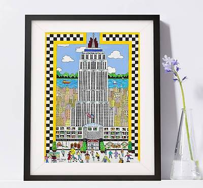 (Empire State Building NYC Art Reproduction  Pat Singer's New York - Home Decor)