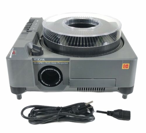 Kodak Ektapro 7020 Dual Lamp Slide Projector With 80ct Tray Tested Working