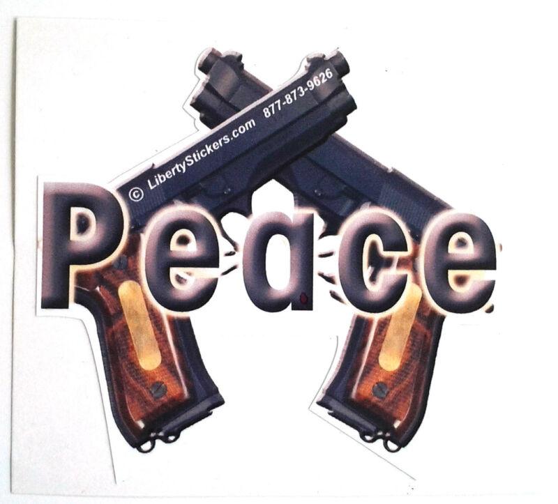 PEACE GUNS Pro-Gun Die-Cut Bumper / Window Sticker L